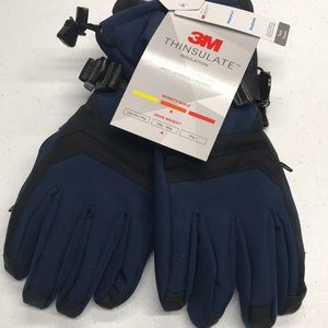THINSULATE Womens Blue Winter Waterproof Gloves